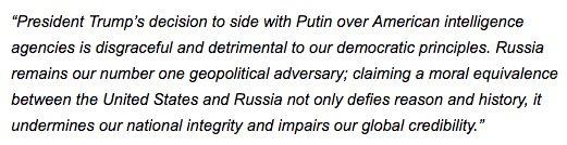 My statement on today's summit in Helsinki.