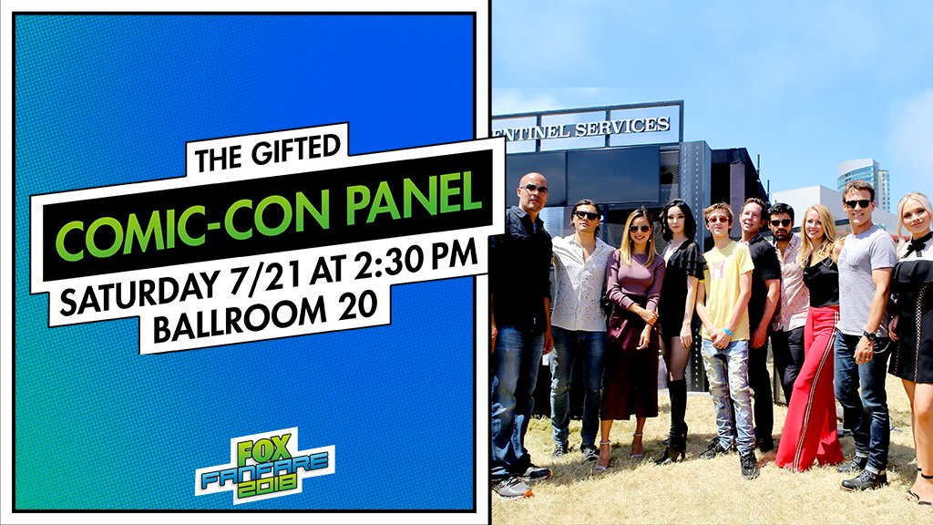 Season 2 of #TheGifted is fast approaching. Dont miss the cast panel at @Comic_Con Saturday at 2:30 PM PST. 🔥