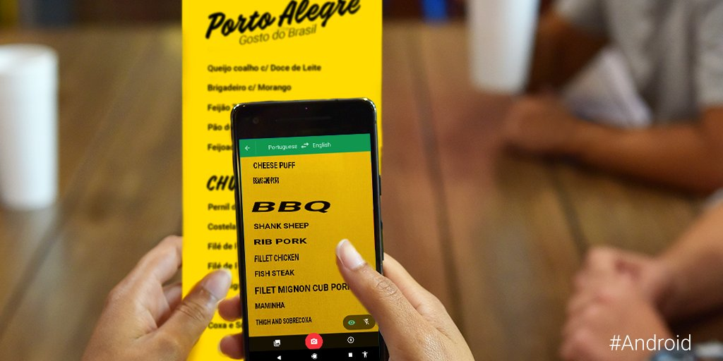 Navigate Brazilian food culture like a pro. Google Translate uses machine learning so you can understand what you're ordering for over 100+ languages.