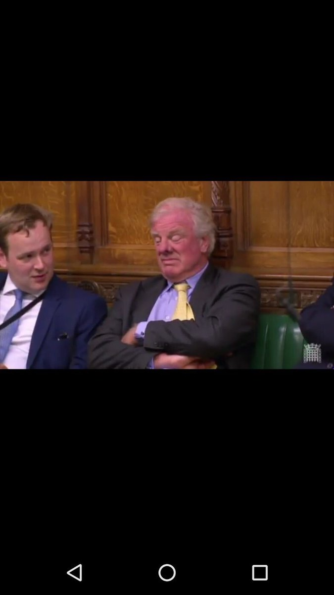 Clearly the MP for Gammonshire here pulling a face like someone farted in his 9th Bedroom