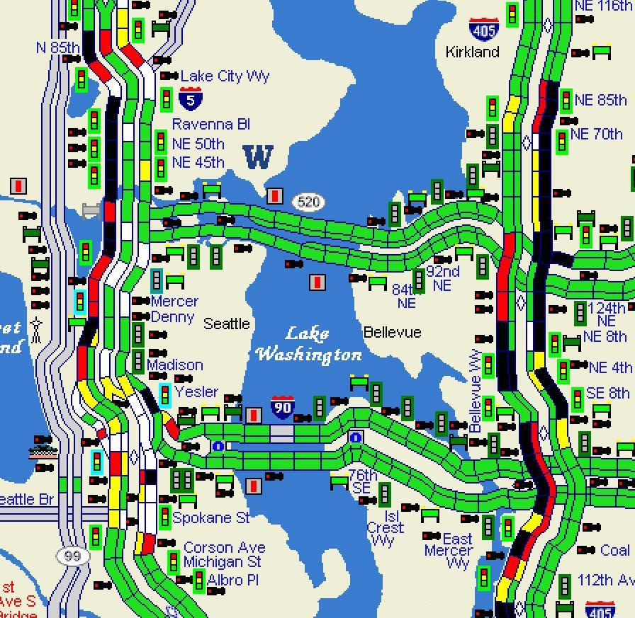 405 Traffic Map.Wsdot Traffic On Twitter Crash On Northbound I 405 At Ne 85th St