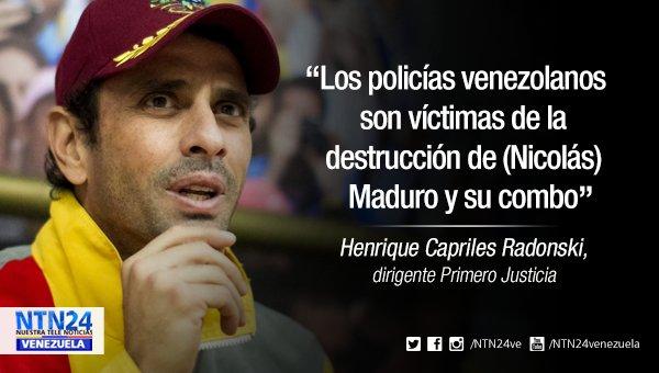 [#LaCitaNTN24] Capriles sobre policías: Ellos también son víctimas de Maduro https://t.co/nlycCAlYlV