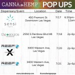 We'll be stopping by @ReefDispensarie, @TheSourceNevada & @SensiMag for more #CannaHempPopups in #LasVegas this week! Swing by to chat about how our #CBD products can work for you & your loved ones.  #CBDLife #CBDHeals #cannabidiol #hemp #CBDcommunity #CBDhemp #cannabis