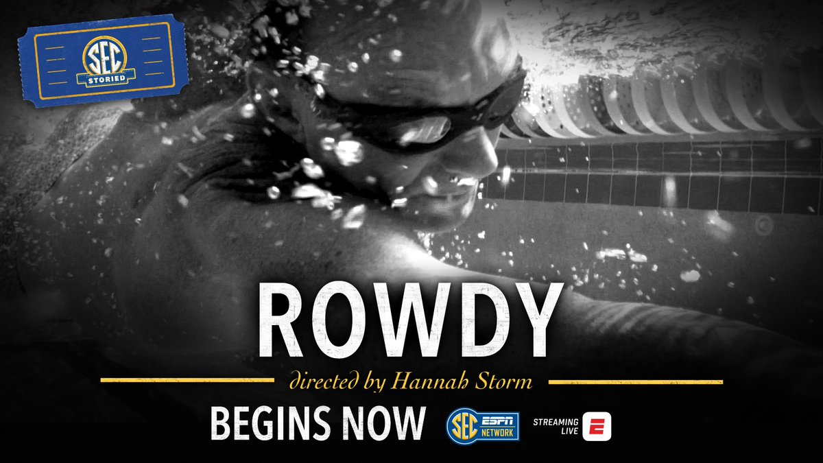 Some lives are measured in moments ... others in meters. SEC Storied: #Rowdy begins NOW.