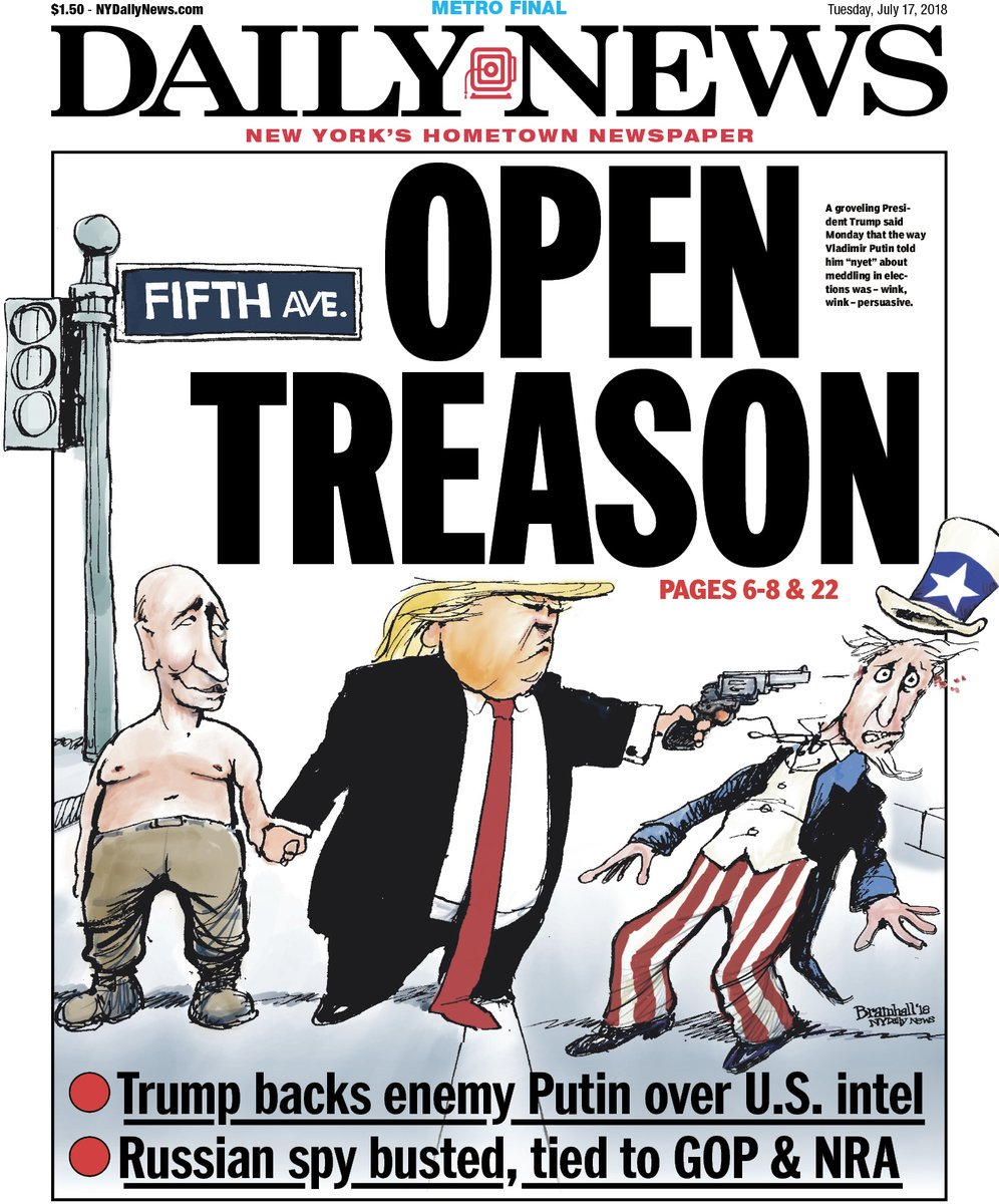 Image result for open treason daily news