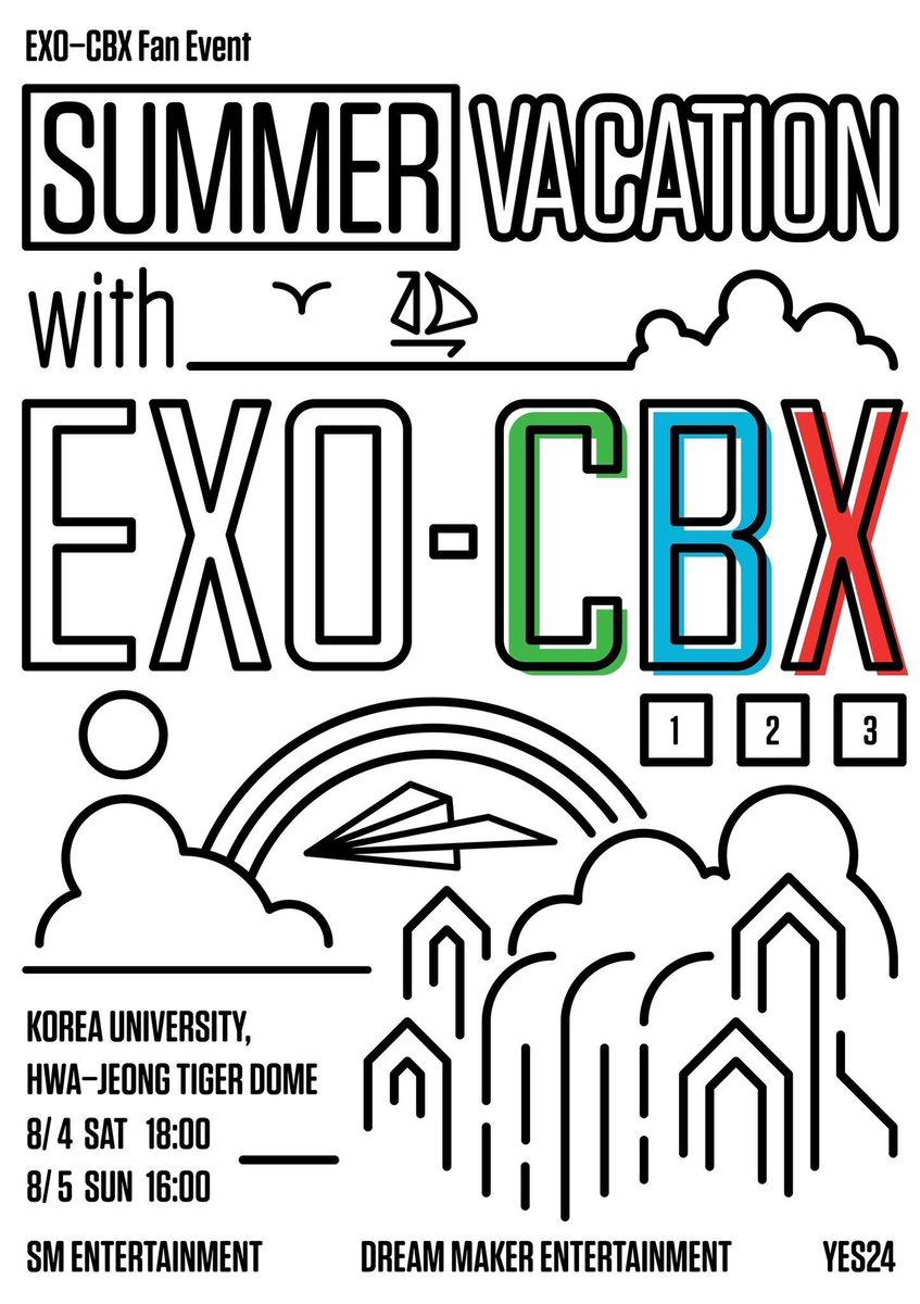 EXO-CBX จะมีแฟนอีเว้นท์ SUMMER VACATION with EXO-CBX จัดที่ Korea University, Hwa-jeong tiger dome วันที่ 4,5 สิงหาคม 2018!!!!!  <br>http://pic.twitter.com/eCi1YoXy2K