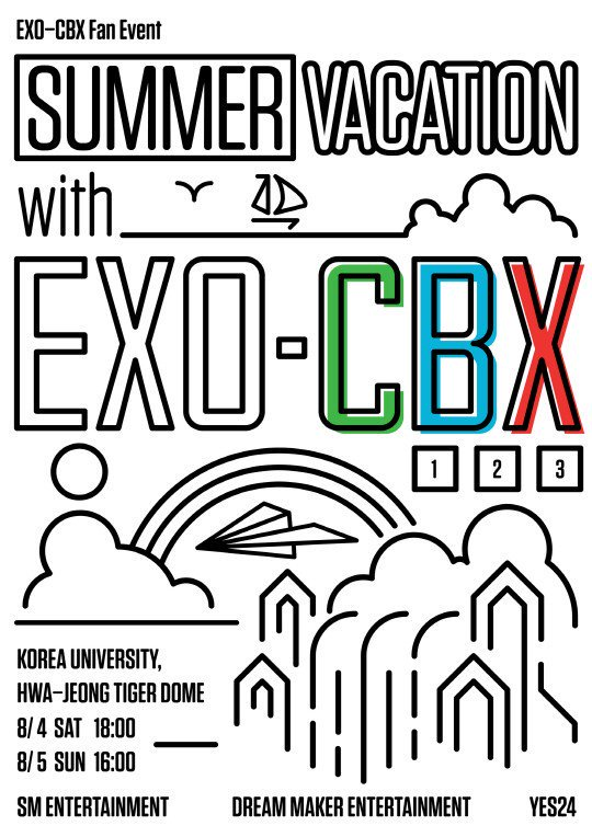 #EXOCBX to hold first domestic fanmeeting &quot;Summer Vacation with EXO-CBX&quot;  To be held at Korea University on August 4-5   https:// kpopping.com/news/9328-EXO- CBX-announce-their-first-official-Korean-fan-meeting-Summer-Vacation-with-EXO-CBX &nbsp; … <br>http://pic.twitter.com/8qRceWqD7P