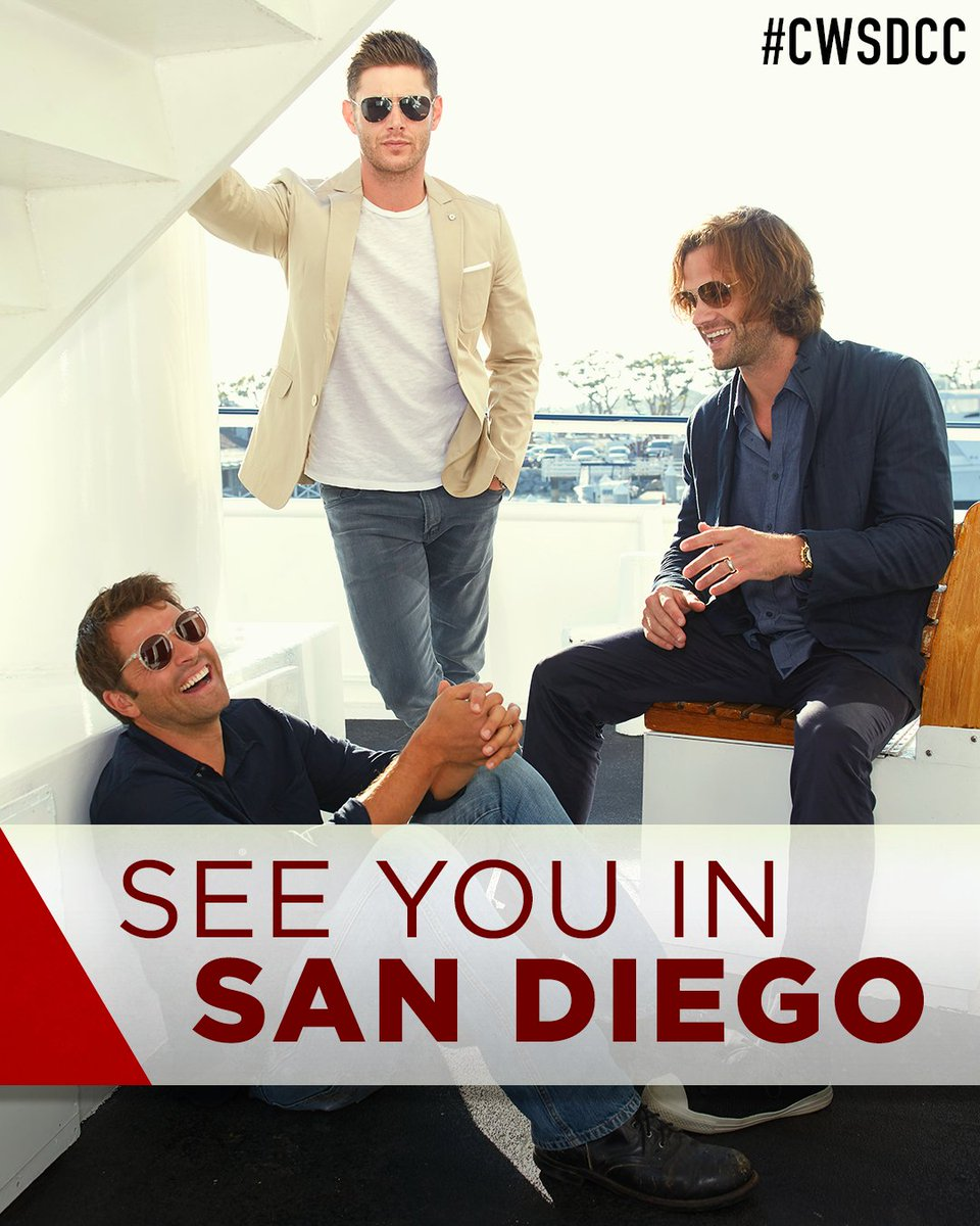 Supernatural will be in Hall H on Sunday! Follow along all weekend! #CWSDCC