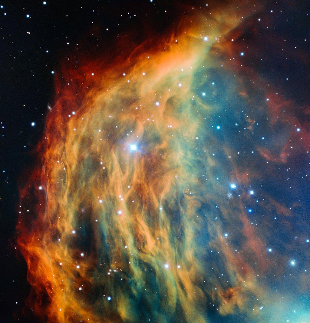 The Medusa Nebula. Imaged by the European Southern Observatory, VLT