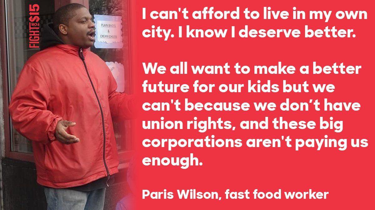 Yes, Paris. A fair wage and honest hours is not too much to ask for.  #FightFor15