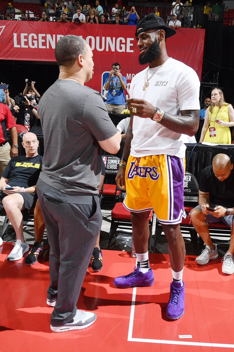 promo code 2e04d 93452 ... wholesale kingjames wearing the trainwreck nike lebron 12 low at summer  league in 2015. purple