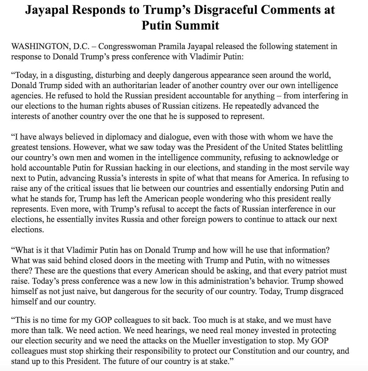 Rep  Pramila Jayapal on Twitter:
