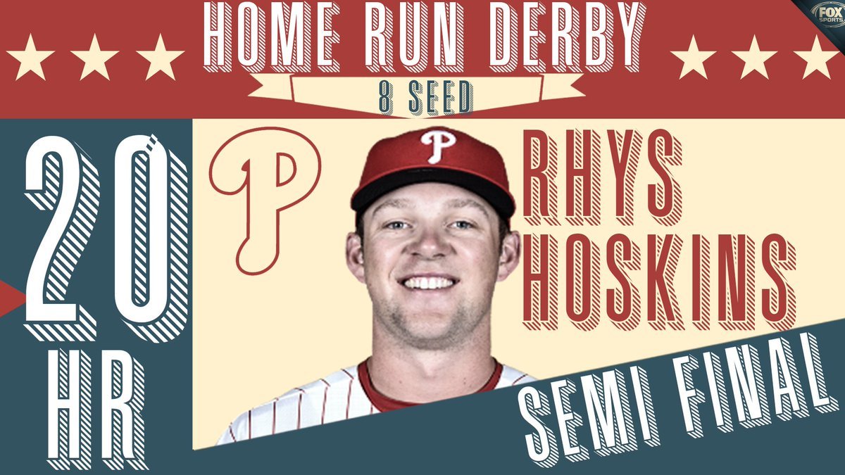 Rhys Hoskins are you kidding me?  20 home runs in the semi final!