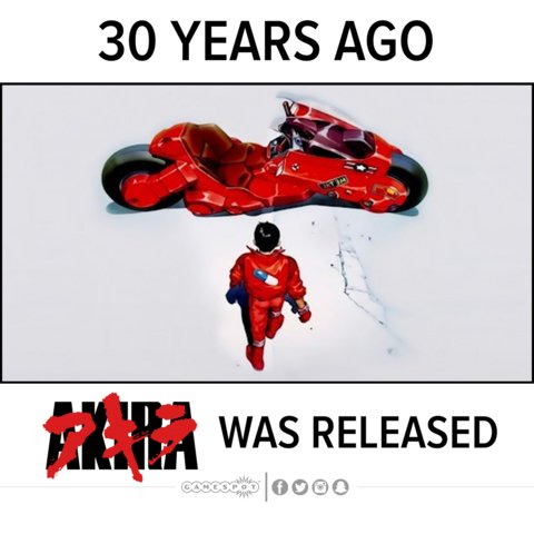 Akira first released 30 years ago! Did you watch this?