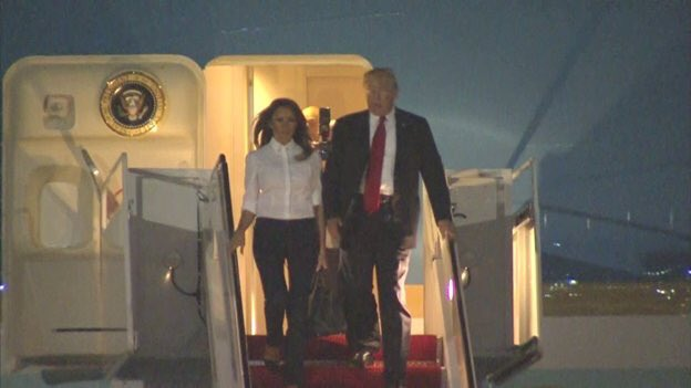 Welcome Home Mr. President and First Lady.  Because of you NATO is militarily stronger, the US is economically wealthier and the World is on a path to being safer.  Not bad for a weeks work!  Keep ignoring the Haters and the Ignorant!  Great interview on Hannity!  #WalkAway #MAGA<br>http://pic.twitter.com/8iSNGEEtbi