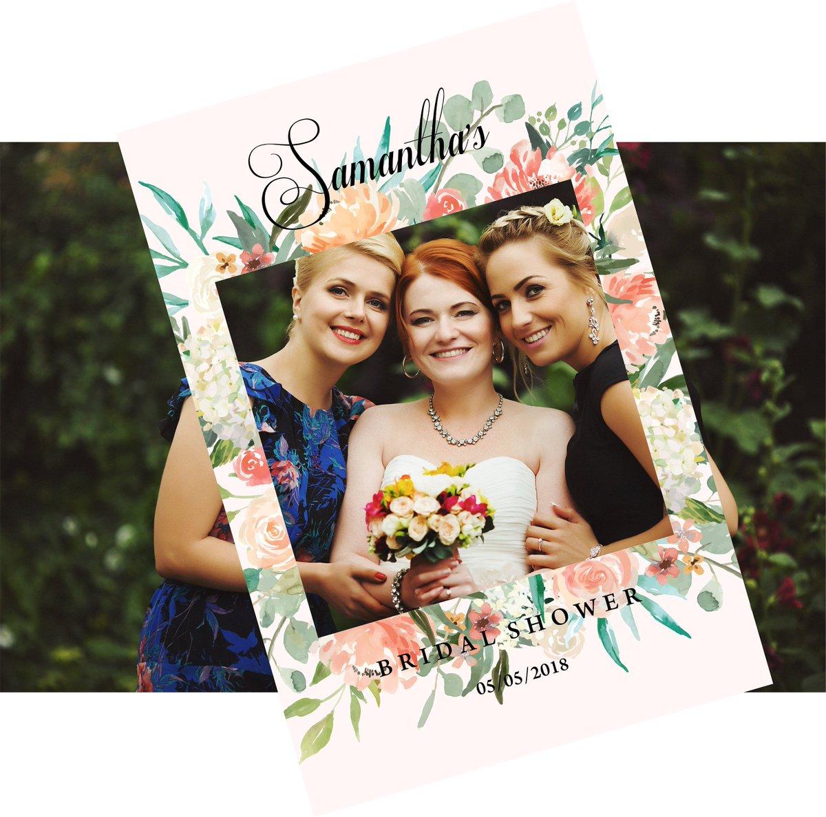 Diz On Twitter Bridal Shower Photo Prop Frame Peach Flowers On