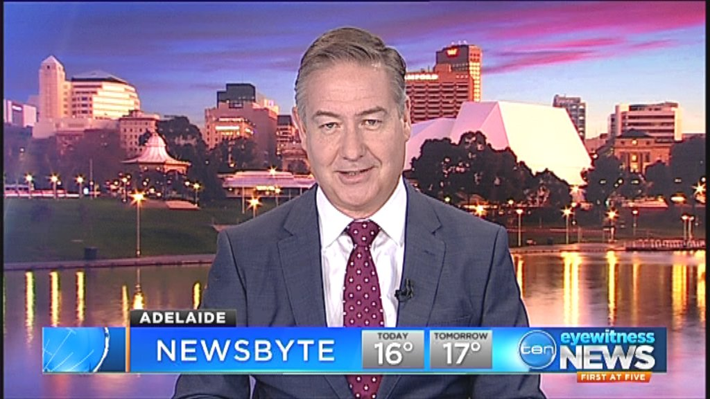 Image for the Tweet beginning: NEWSBYTE: Adelaide's lunchtime headlines with