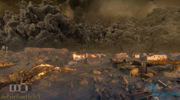 【RT100UP】 古代都市ポンペイが迎えた運命の日。ヴェスヴィオ火山が噴火したその瞬間の様子を再現した迫力の3Dアニメーション https://t.co/0J5j0LNdLx