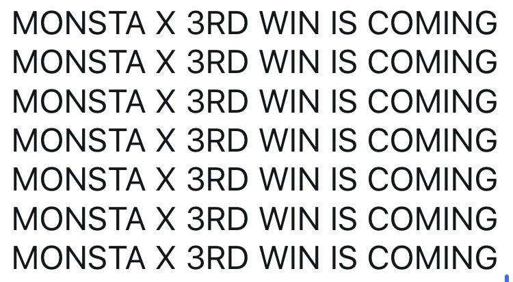 MONSTA X 3RD WIN IS COMING  MONSTA X 3RD WIN IS COMING  MONSTA X 3RD WIN IS COMING  MONSTA X 3RD WIN IS COMING  MONSTA X 3RD WIN IS COMING  MONSTA X 3RD WIN IS COMING  MONSTA X 3RD WIN IS COMING  MONSTA X 3RD WIN IS COMING  MONSTA X 3RD WIN IS COMING  MONSTA X 3RD WIN IS COMING<br>http://pic.twitter.com/EAIjMNGsrF