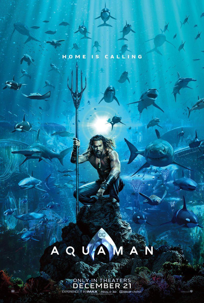 The first poster for the #Aquaman movie is finally here! What do you think of it?