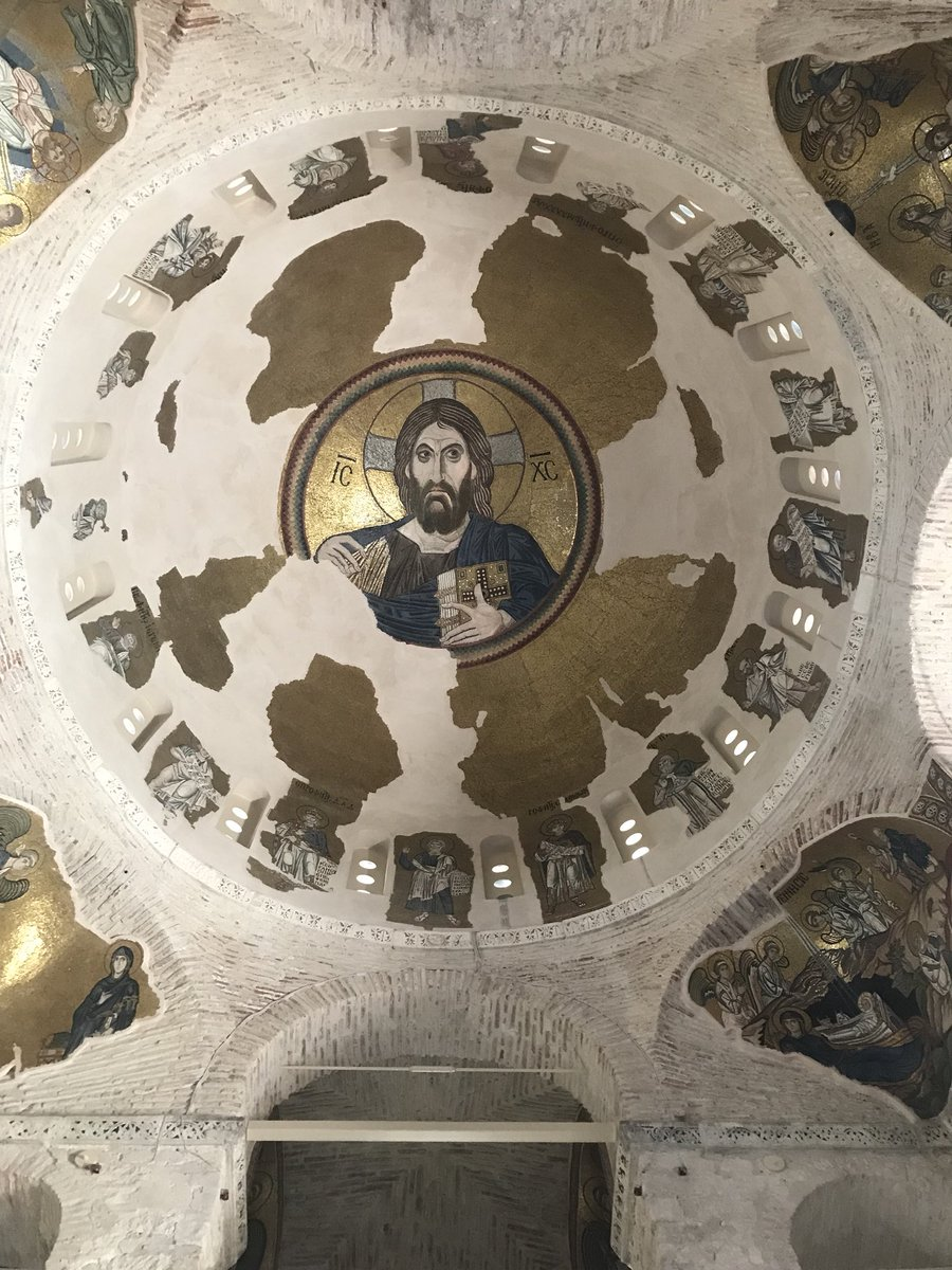 Dome mosaics at Daphne Monastery, Athens <br>http://pic.twitter.com/jTxAMieybr
