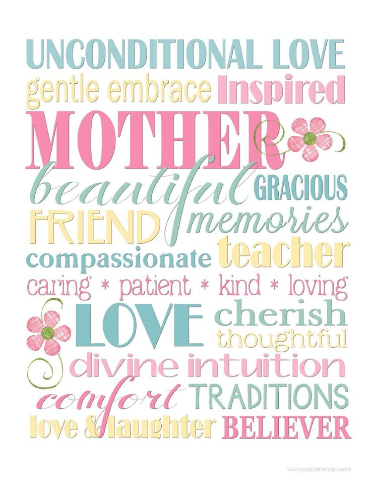 Happy Mother's Day To All ~ 34 Free Mother's Day Subway Art Printables | rea... #happymothersday2018 #happymothersday2018inpakistan #happymothersday2018quotes #happymothersdaycake #mothersday #mothersdaysongs happymothersdaywishes.info/happy-mothers-…