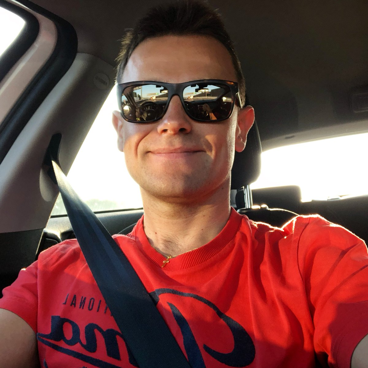 Very good morning, on my way to maranello for F1 Simulator @ScuderiaFerrari @FerrariRaces #goodmorning #alfaromeogiulietta @serengetieyewear