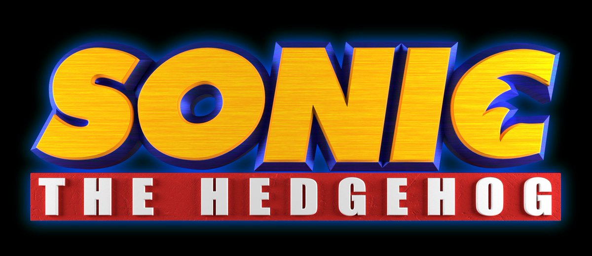 Smez Prakezz The Red Hedgehog On Twitter Sonic Movie Logo Updated I Added Some Texture To Make It More Realistic And Adjust Camera Angle From Orthographic Mode To Perspective Mode Original