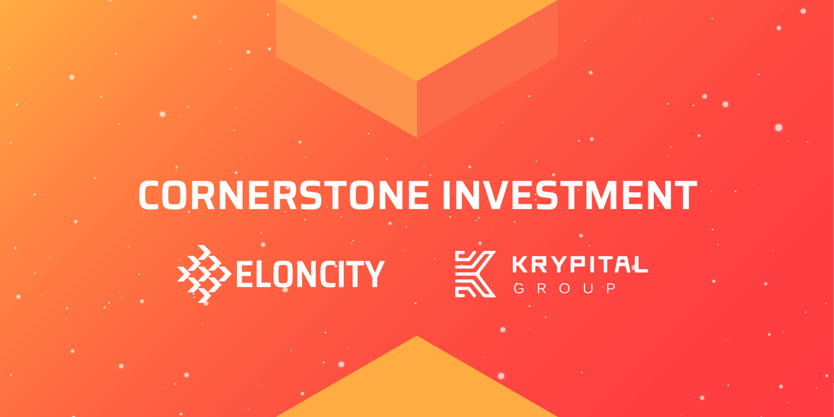 ELONCITY Is Excited To Announce Our Cornerstone Investment Receival From  @KrypitalGroup, A World Leader In Blockchain Marketing. Krypital Will  Assist Our ...