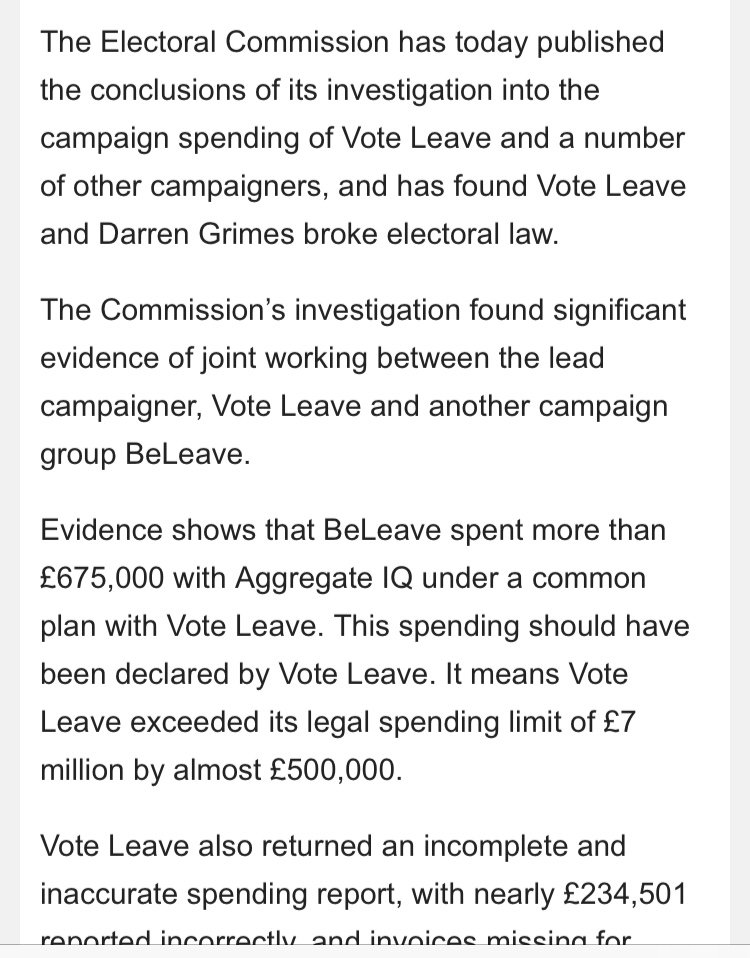 Breaking from Electoral Commission: