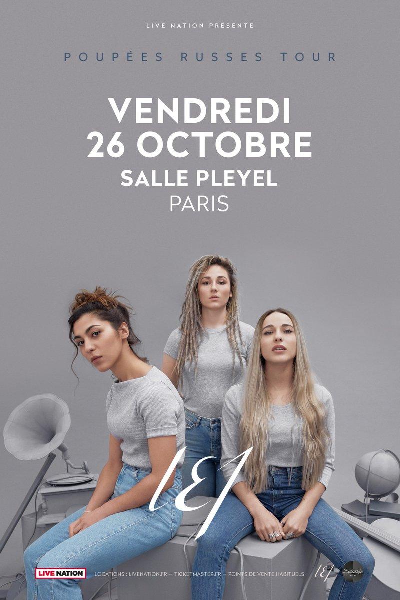 @LucieElisaJulie en concert, vendredi 26 octobre - @sallepleyel  Infos et réservation >> https://t.co/x27mYv45KD #sallepleyel #lej #concert https://t.co/BnqSjjZkHV