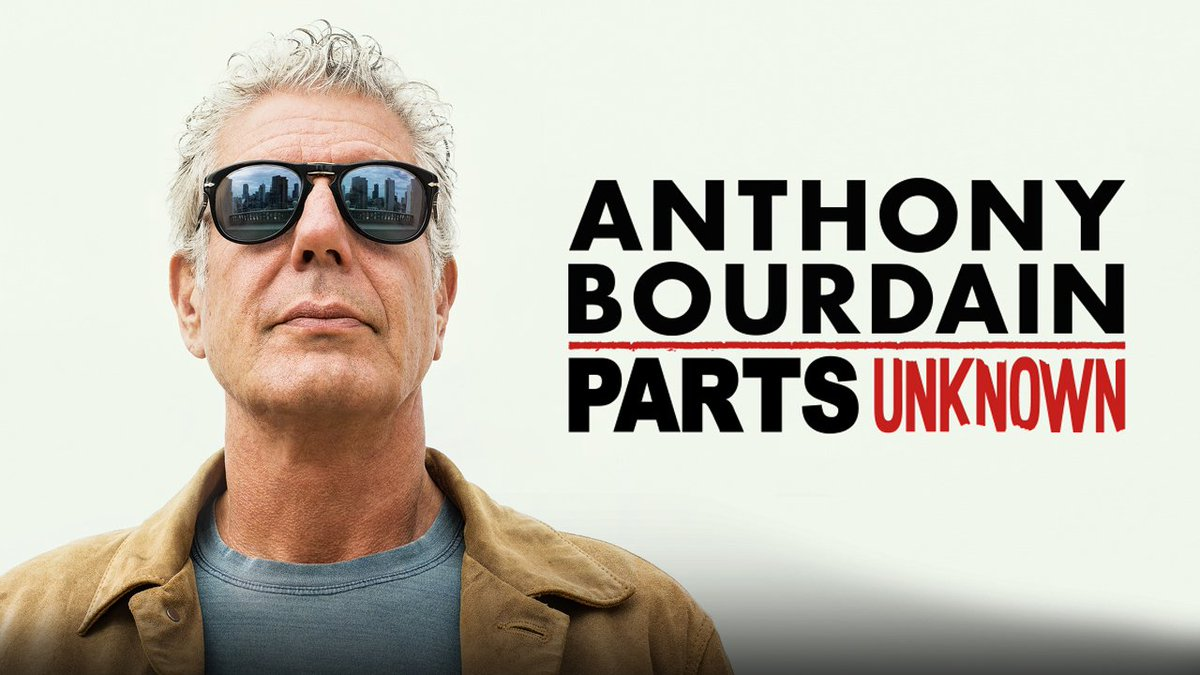 For anyone who's a fan of eating great food, going to new and interesting places, or eating great food *in* new and interesting places, the first eight seasons of Anthony Bourdain's award winning Parts Unknown are now streaming. Eat up! 👏🌎