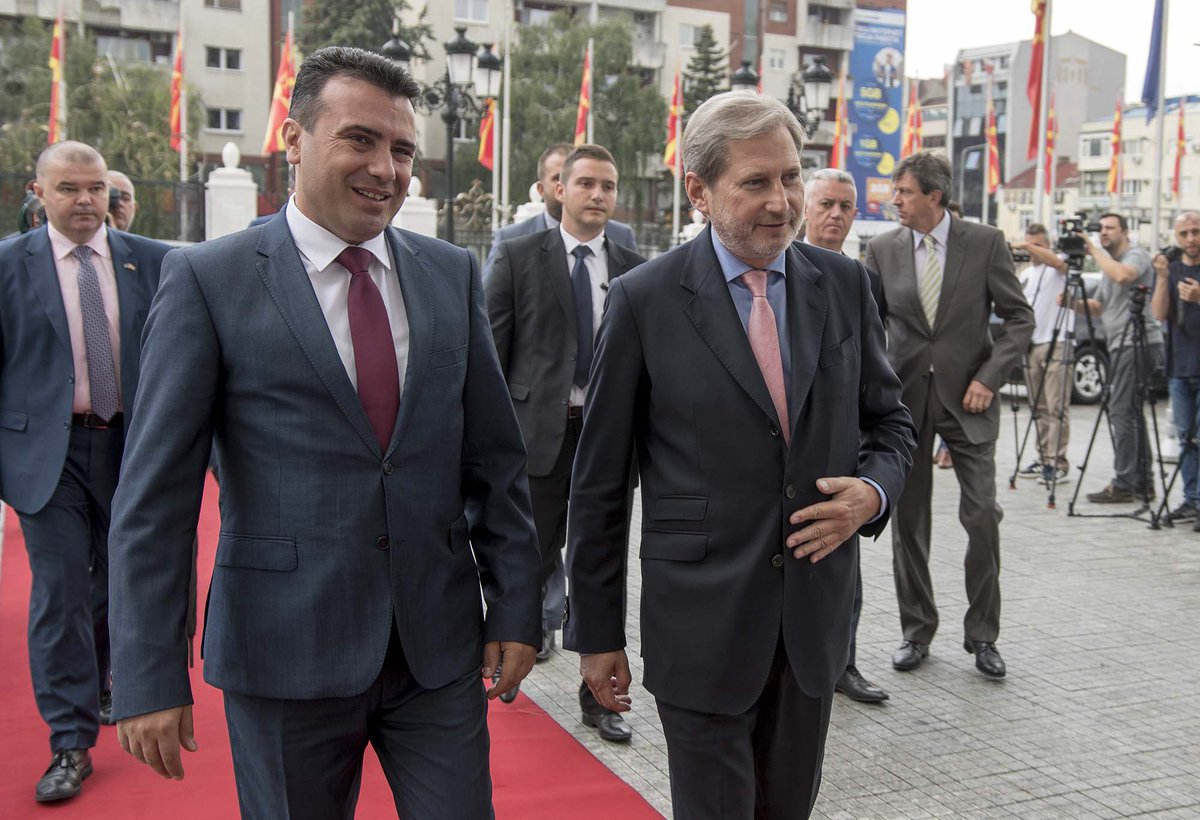 Good meeting with PM @Zoran_Zaev and @VladaMK in #Skopje on next steps towards opening #accession negotiations.