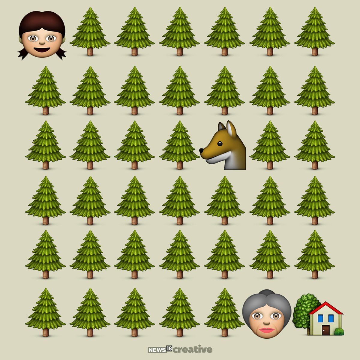 News18 Graphics On Twitter Stories In Emojis Little Red Riding Hood Worldemojiday