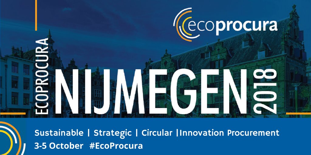 Register today for #EcoProcura 2018! The conference will take place in @GreenCapital18 @gem_Nijmegen, 3-5 Oct.   For more info, visit: https://t.co/lW2p9DRB2s   @sppglobal @ProcureInno @ICLEI_Europe