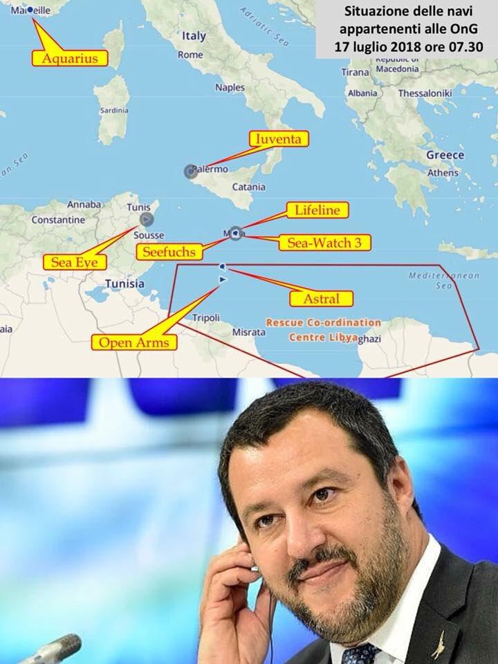 Due navi di Ong spagnole sono tornate nel Mediterraneo in attesa del loro carico di esseri umani. Risparmino tempo e denaro, i porti italiani li vedranno in cartolina.