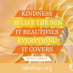 Kindness is like the sun - it beautifies everything it touches :)