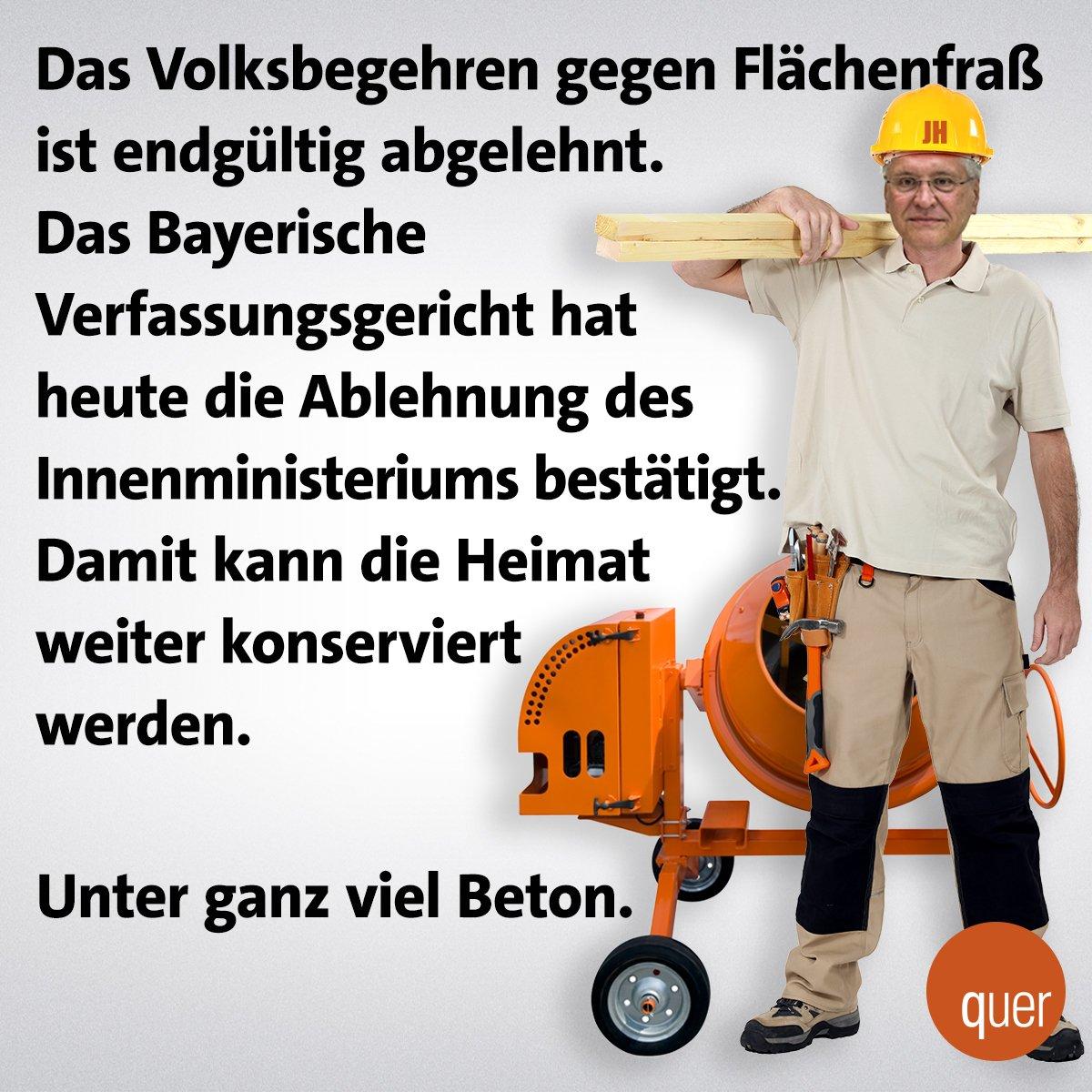 Heimatschutz à la CSU. #Flächenfraß #Herrmann