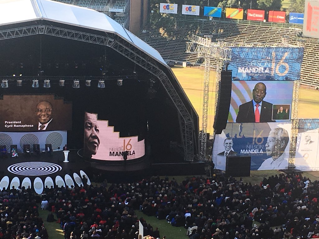 President Cyril Ramaphosa says we are called on by Nelson Mandela to be active in South Africa and heal our nation to renew hope. #CNBCAfrica DStv 410. #Mandela100 #NMAL2018 #MandelaLecture #MandelaObama #Mandela