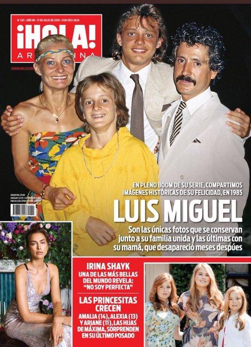 #AdelantoTapaHola En pleno boom de la serie de Luis Miguel, fotos historicas de los momentos felices de la familia unida Foto