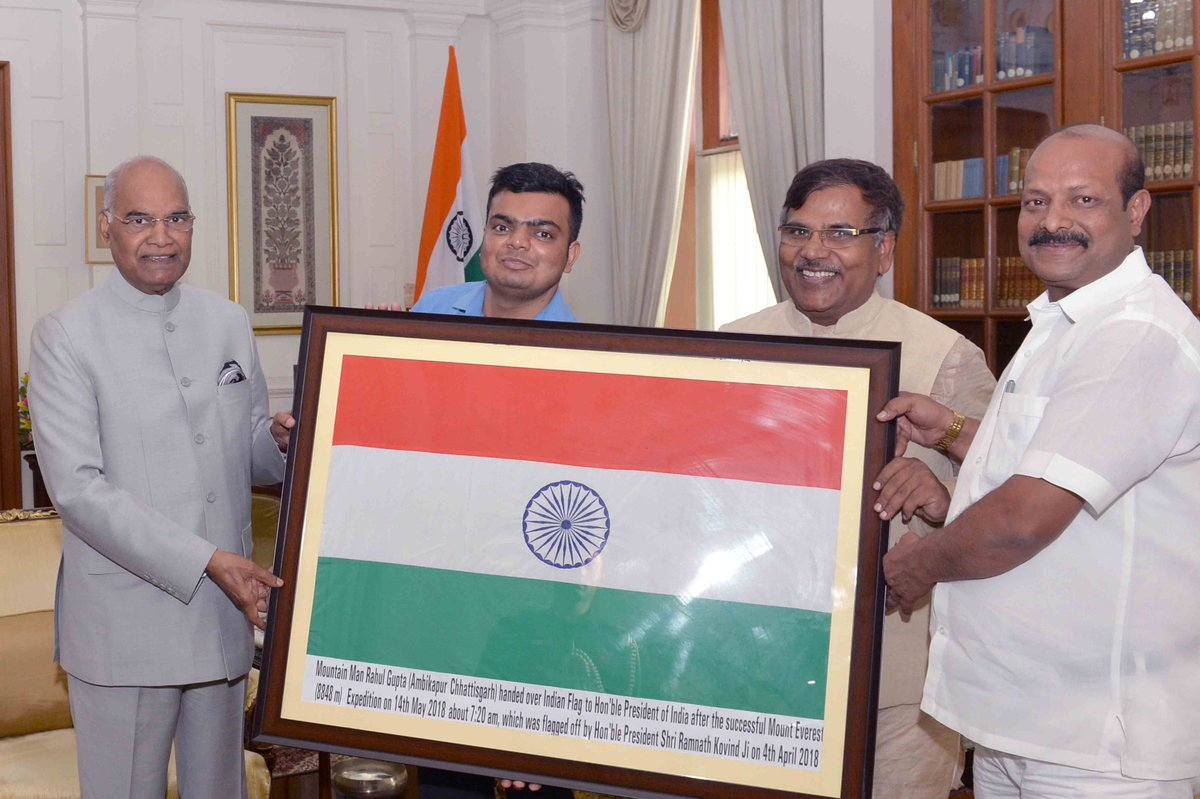 President of India's photo on Everest