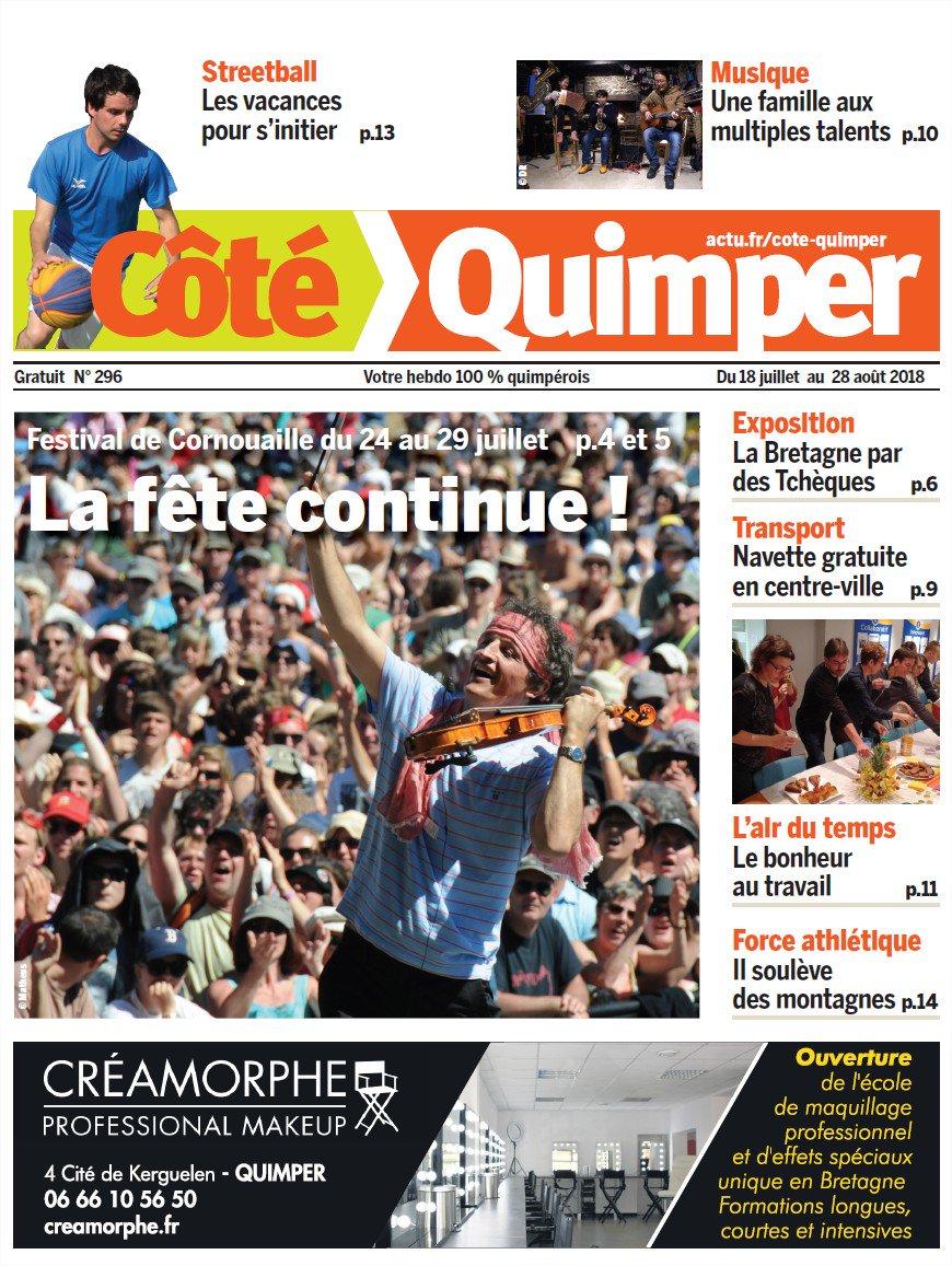 La une du nouveau numéro de Côté Quimper #Quimper@Cornouaille2018  - FestivalFocus