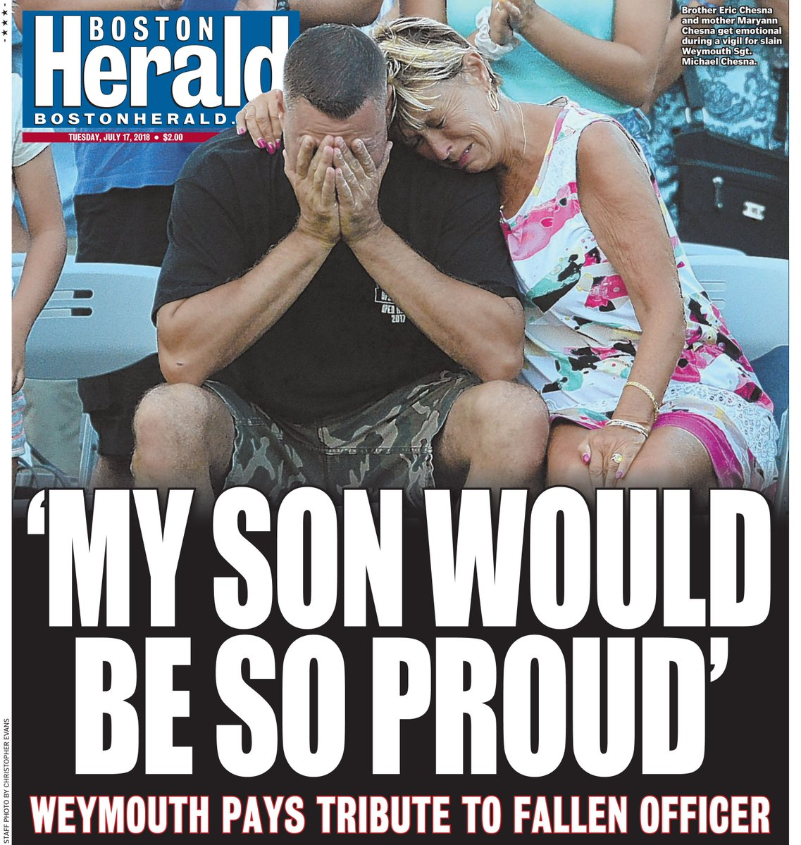 Boston Herald July 17, 2018 front page