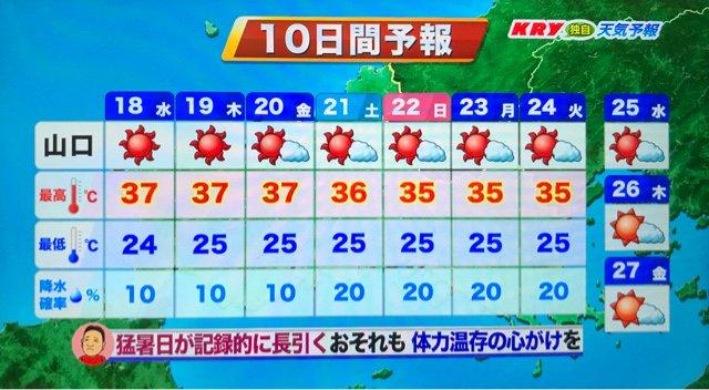 10 山口 市 日間 天気