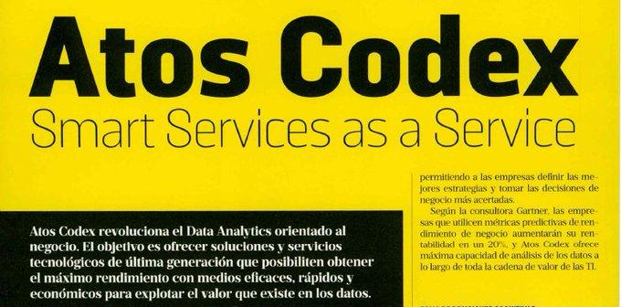@AtosCodex revoluciona el #DataAnalytics orientado al negocio - via...