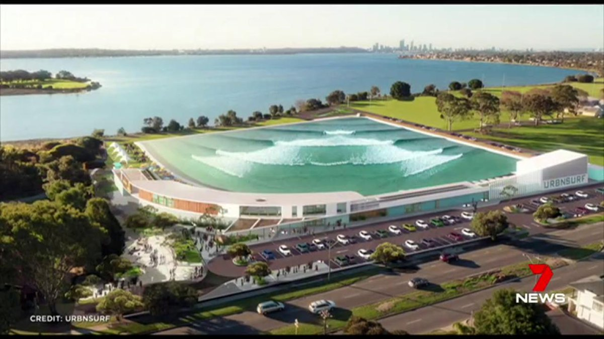 Image for the Tweet beginning: A proposed Wave Park in