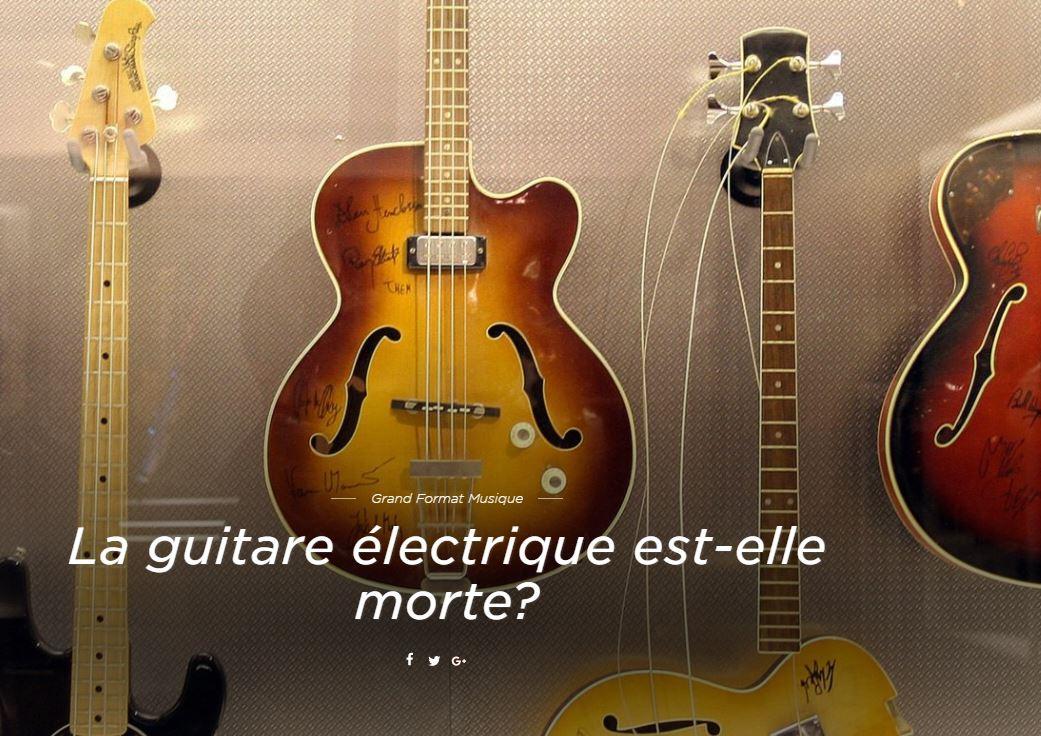 La guitare électrique, qui a construit la légende de Chuck Berry ou Jimi Hendrix, n'est plus la star des chambres d'adolescent. Est-ce son irrémédiable déclin?  https://t.co/x7WC4M1G3t