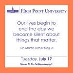 [CALENDAR] #DailyMotivation from Dr. Martin Luther King Jr. #HPU365