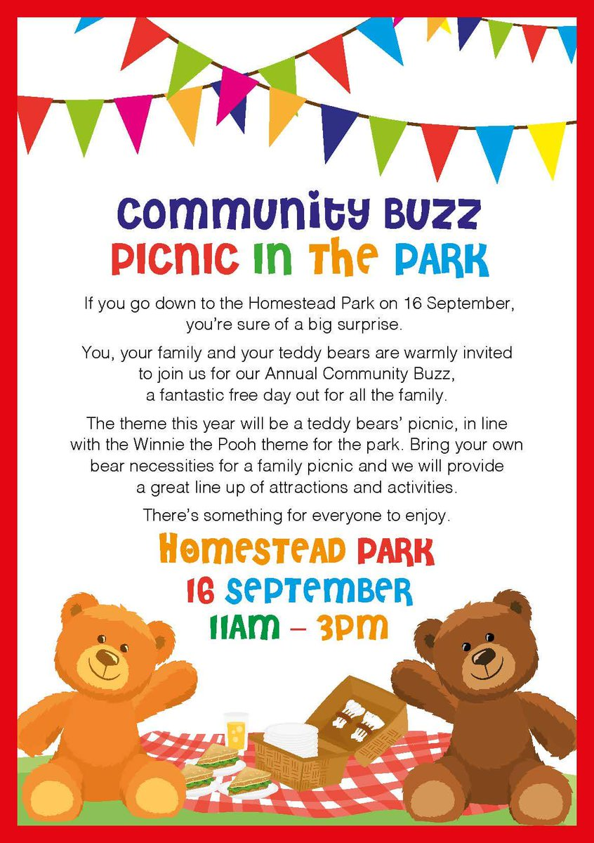 The Theme Is Teddy Bears Picnics Come Along To Homestead Park For A Fantastic Free Day Out All Family York