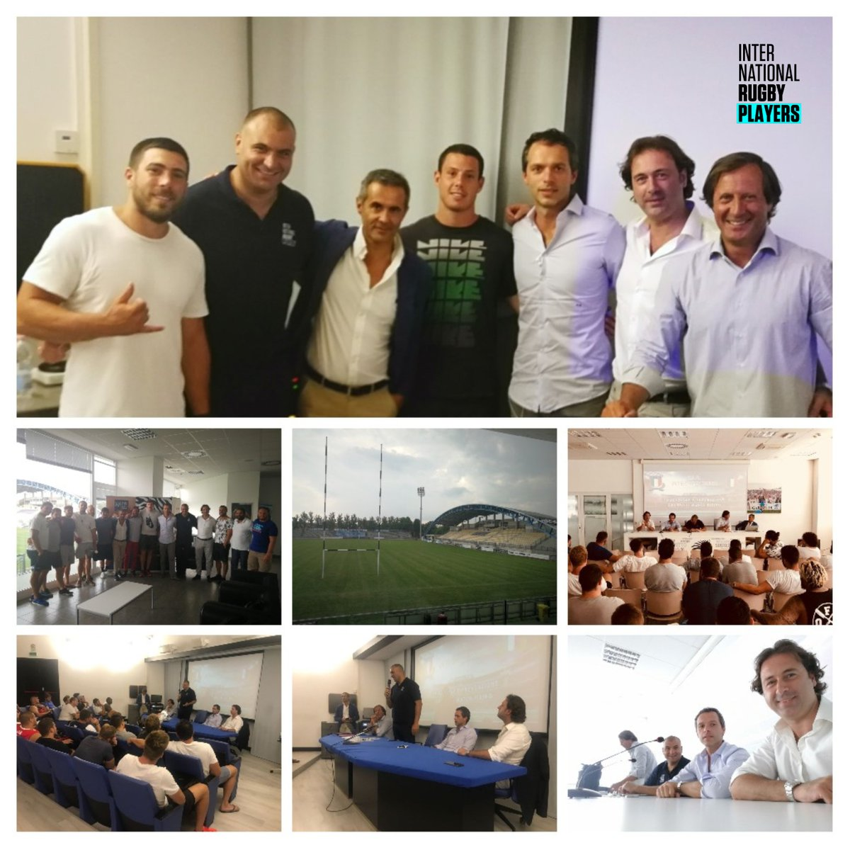 Great to meet the players and staff at @BenettonRugby and @ZebreRugby in Italy to discuss Player Development over the last few days.   Important meetings in a region where players need to be better represented. #graziemille <br>http://pic.twitter.com/AwAxIRLI7w